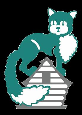 Logo Rissland Kunststoffe Katze auf Hausdach