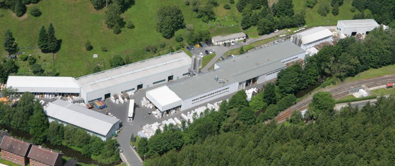 Luftaufnahme der Firma Rissland Kunststoffe